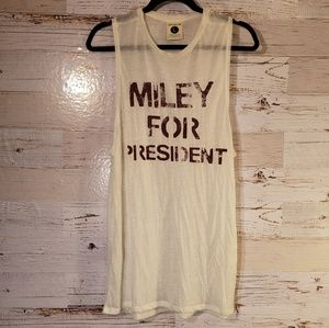 Miley For President graphic tank top